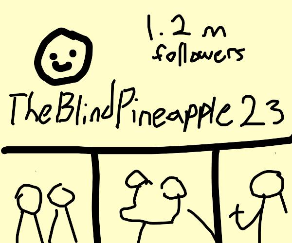 TheBlindPineapple23 is famous in instagram