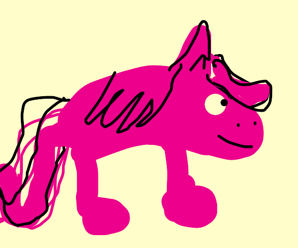 Pinkie Pie but she's only one shade of pink