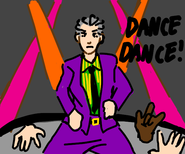 Yoshikage Kira and his backup dancer hands