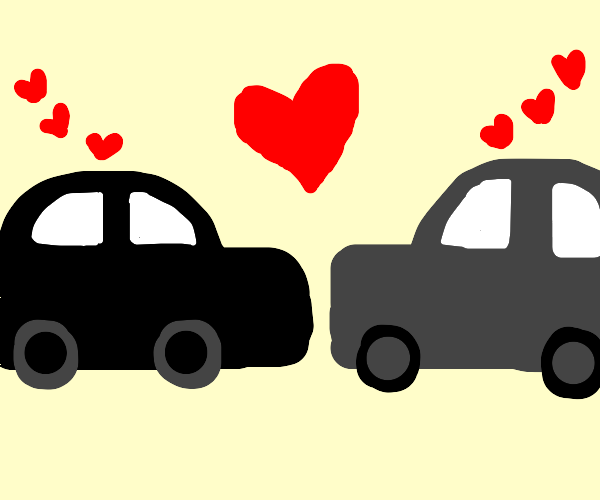 Cars in love with each other