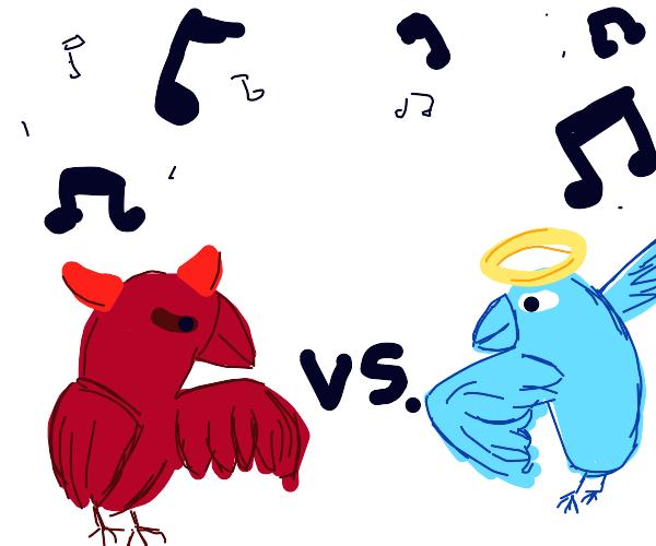 demon bird vs angel bird