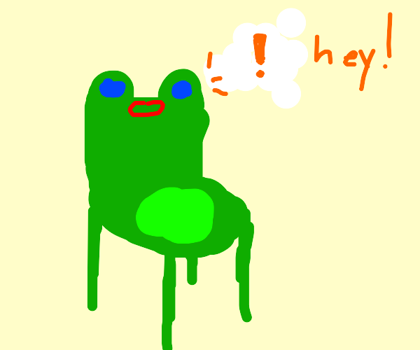 froggy chair calling someone