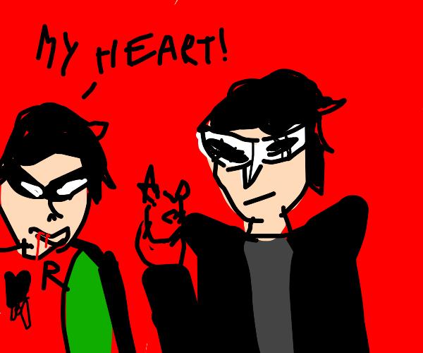 Joker takes Robin's heart