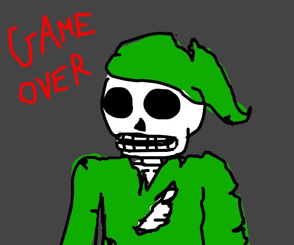 Link but he's a skeleton