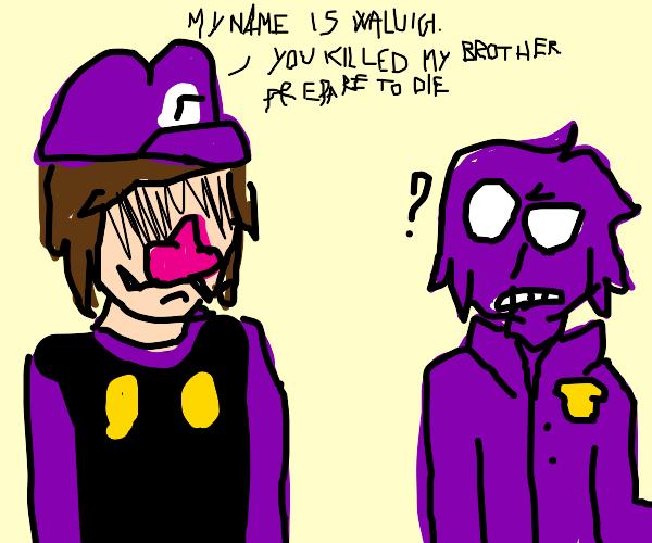 Waluigi VS Purple Guy