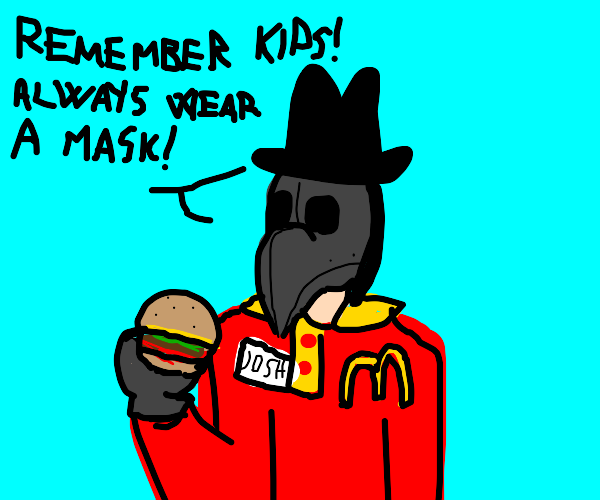 McDonalds worker reminds you to wear a mask