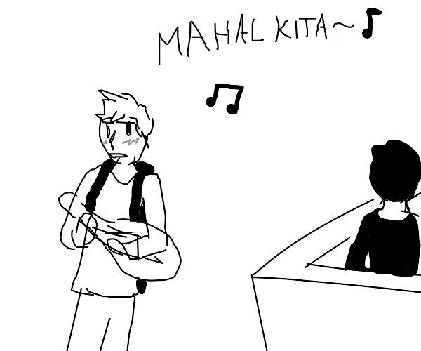 jock confesses love via filipino song