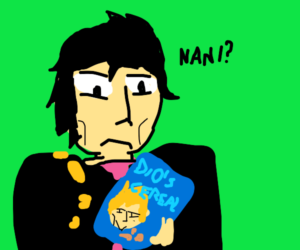 jojo eat cereal of the dio