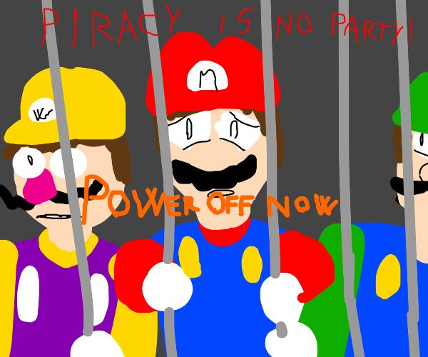 mario is sad, pira no party