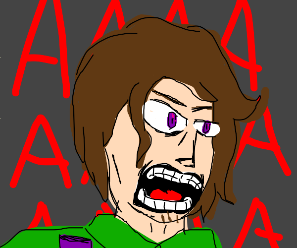 angry person screaming