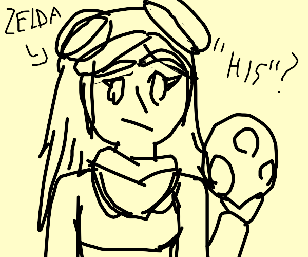 Zelda with HotDogs on his head can play bball