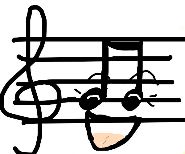 laughing music notes
