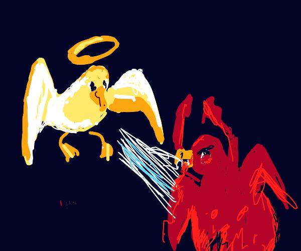 seagull angel defeates seagull kraken