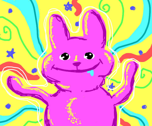 psychedelic rabbit