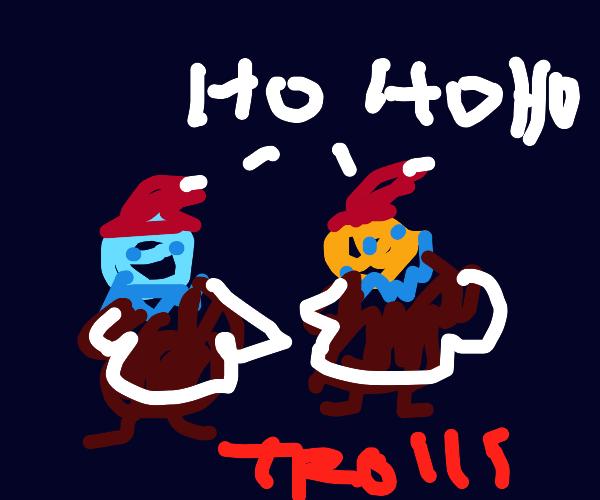 """2010 trolls caroling """"ho ho ho"""""""