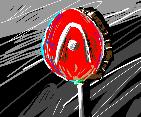 A lollipiop with an A