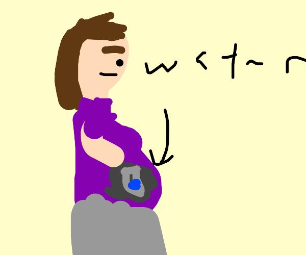 smuggler smuggle water in fake pregnant belly
