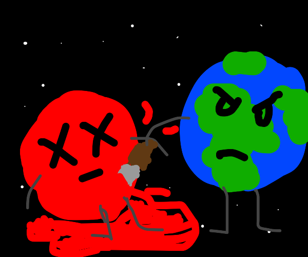 Mars is stabbed to death
