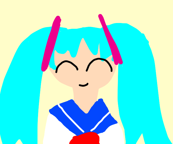 Hatsune miku in school outfit?