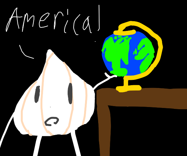 Wise garlic points out america on globe