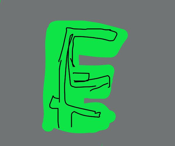 Maze shaped like the letter E