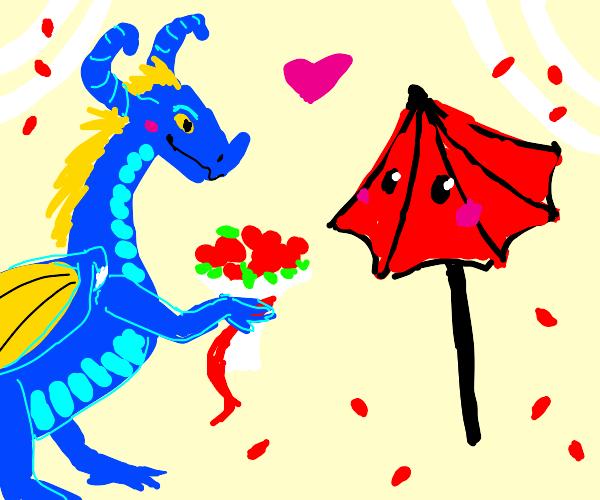 Dragon marrying Umbrella