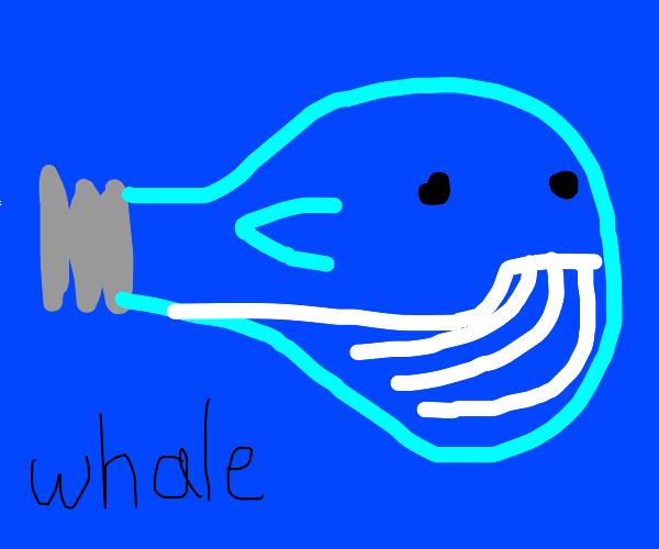 Whale combined with Lightbulb
