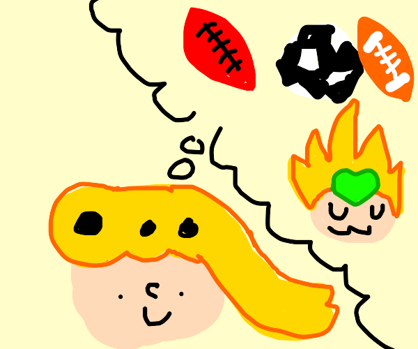 Giorno dreams about playing football w/ DIO