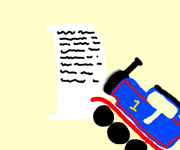 Writing with a Train