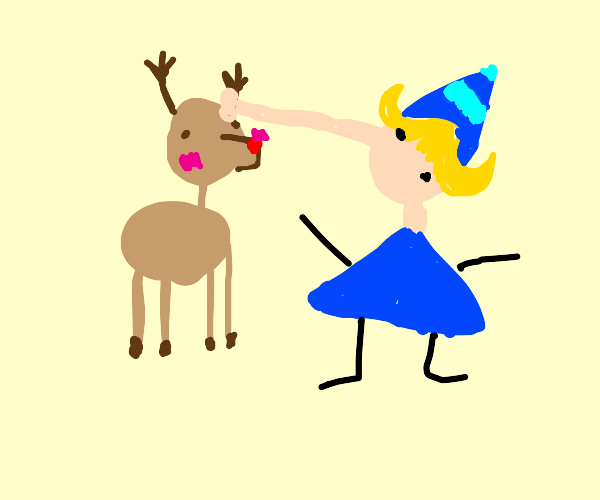 elf gives all the love and support to rudolph