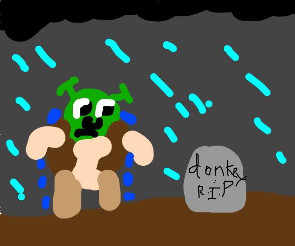 Shrek at Donkey's grave