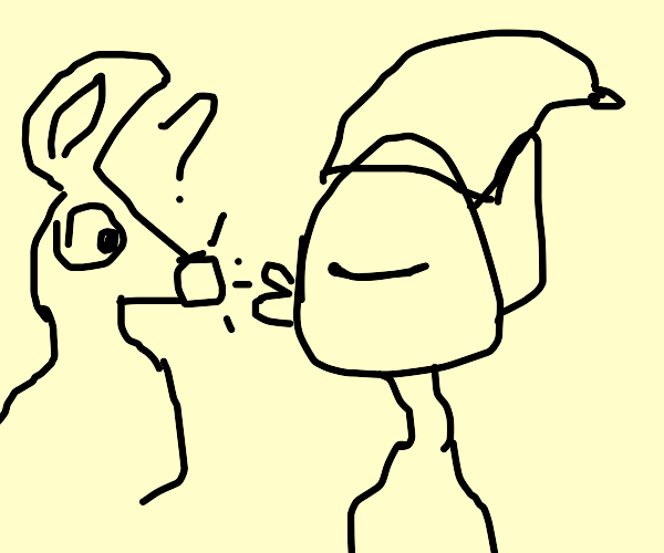 Elf kisses Rudolf