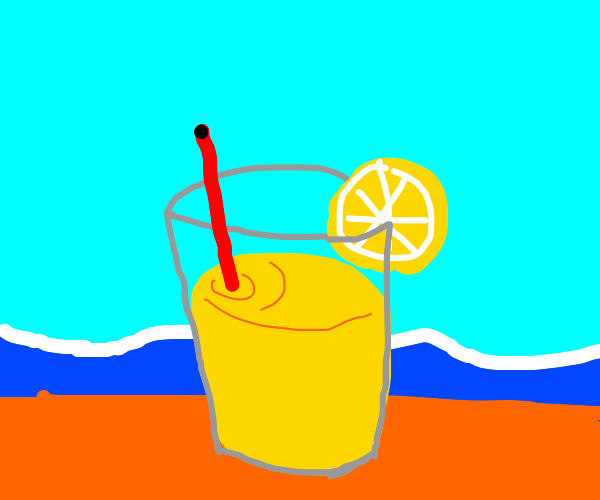 lemonade at the beach