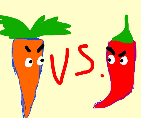 Carrots vs Peppers