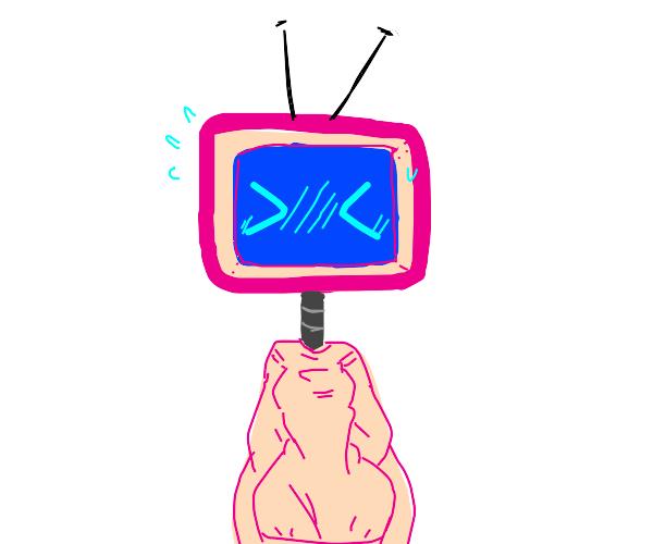 Kawaii, shy, tv person