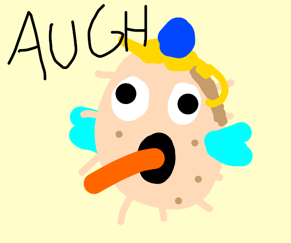 Mrs. Puff Eating Carrot