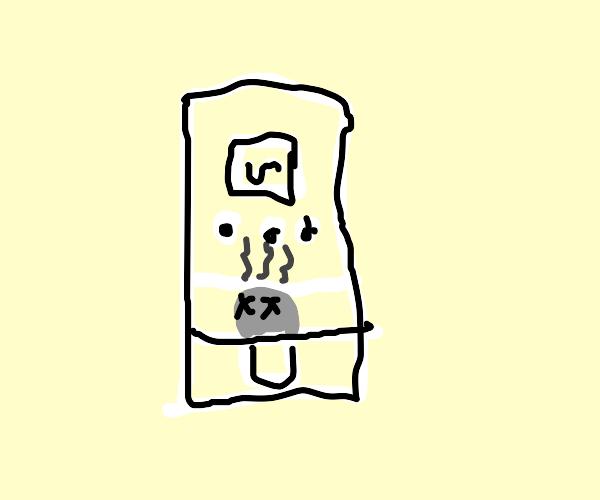 dead person in a fryer