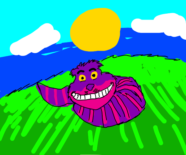Cheshire cat egg sits around in the sun