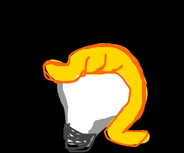 lightbulb with hair