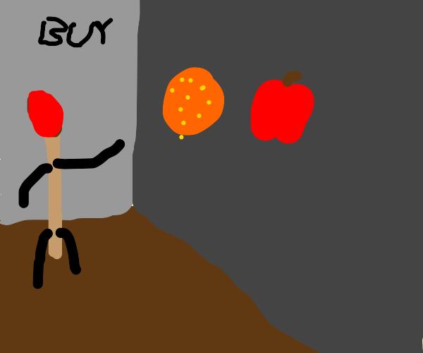 Match buys fruits