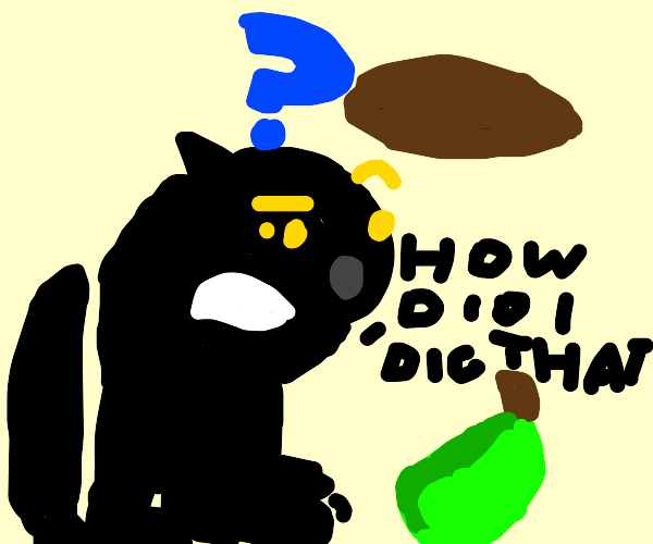 Puma digging with a Pear