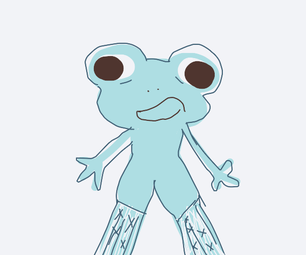sexy frog in fishnets