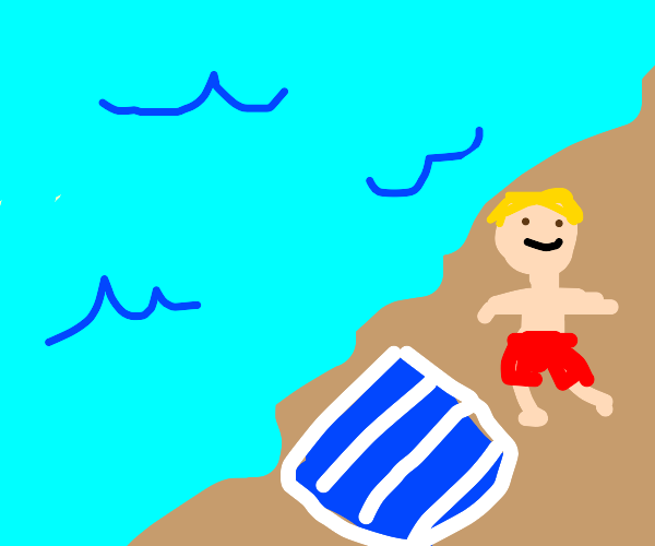 guy at the beach