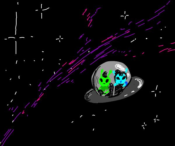 aliens in spaceship