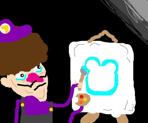 waluigi draws the disney channel logo