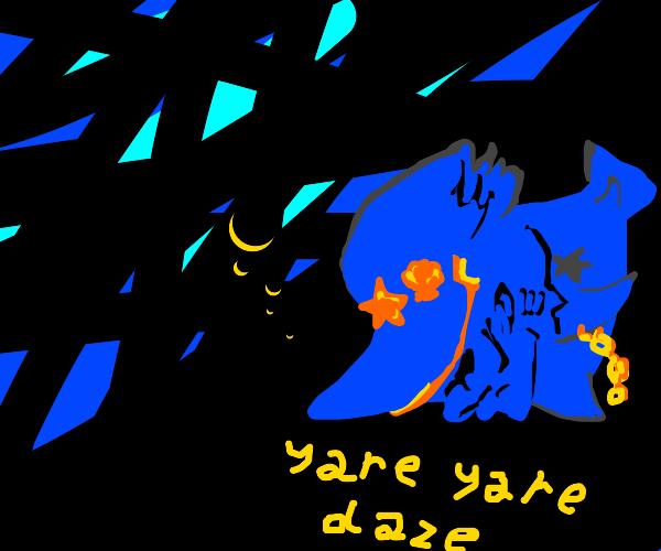 jotaro becomes blue fish, says yare yare daze