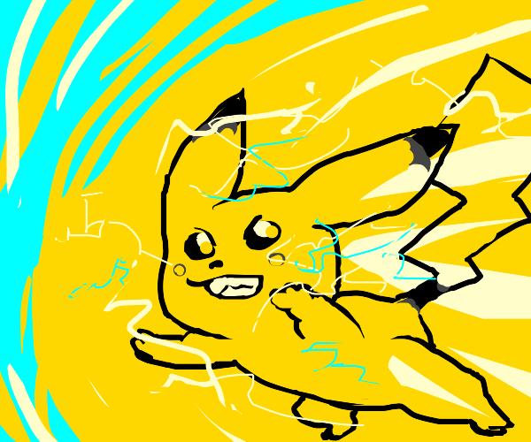 Pikachu action scene