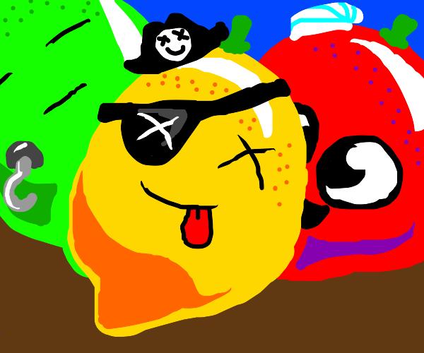Laughing Evil Pirate Lemon