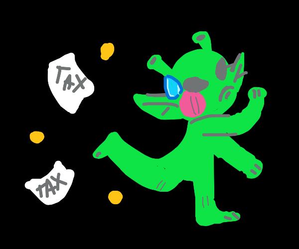 Illegal alien evades taxes.