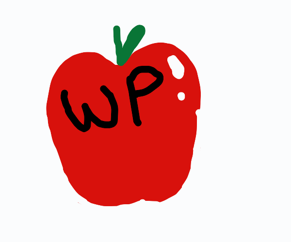A red app with the letters WP